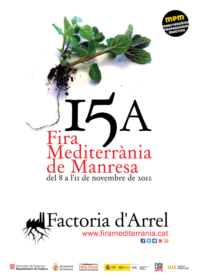 Poster of the 15th edition of Fira Mediterrània of Manresa