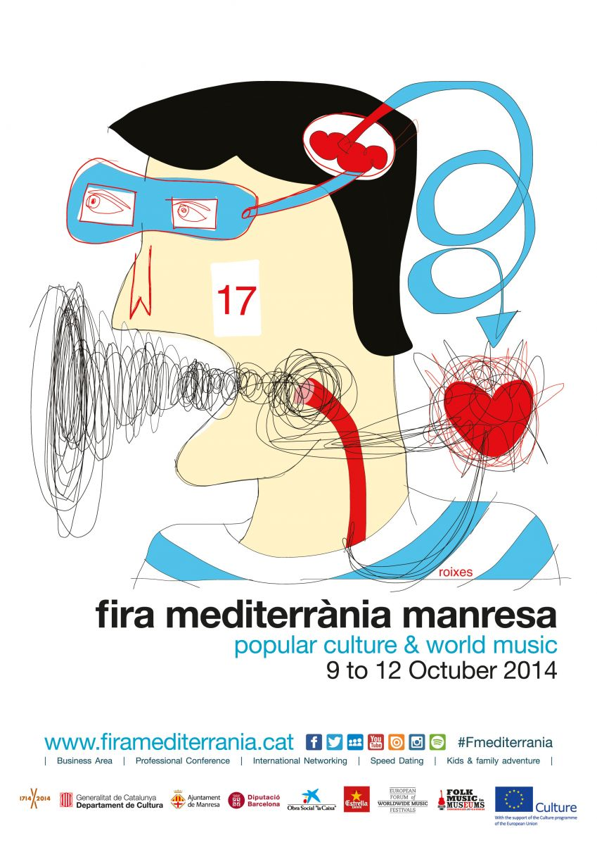Poster of the 17th edition of Fira Mediterrània Manresa