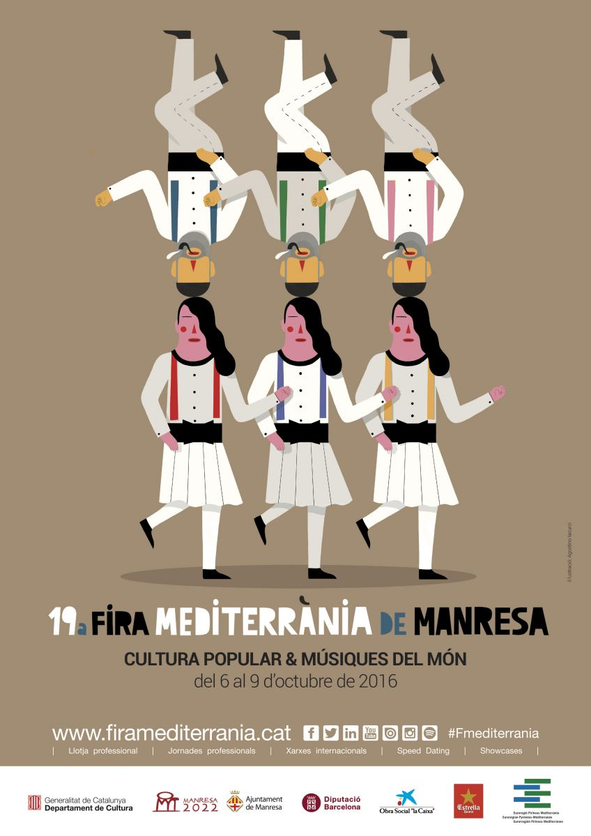 Poster of the 19th edition of Fira Mediterrània Manresa